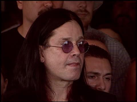 sharon osbourne at the randy rhoads rockwalk at guitar center in hollywood, california on march 18, 2004. - シャロン オズボーン点の映像素材/bロール