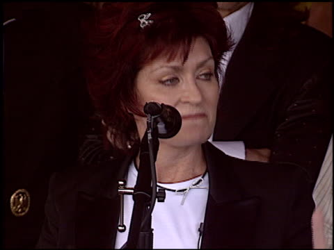 Sharon Osbourne at the Randy Rhoads Rockwalk at Guitar Center in Hollywood California on March 18 2004
