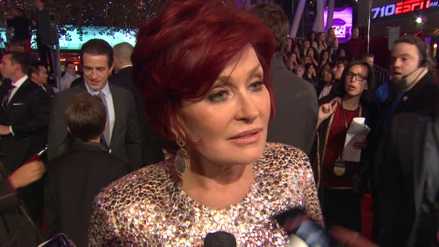Sharon Osbourne on her dress and on the People's Choice Awards at 2012 People's Choice Awards Arrivals on 1/11/12 in Los Angeles CA