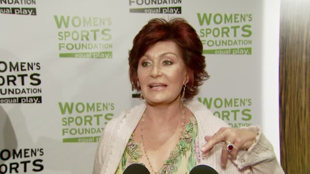 Sharon Osbourne on the event and her favorite sport to watch at the The Billies at the Beverly Hilton in Beverly Hills California on April 16 2008