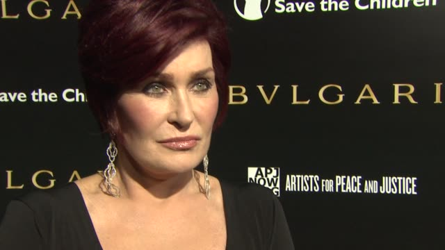 sharon osbourne on what brings her out tonight why its important for bvlgari to support these charities and looking forward to ricky martin's... - sharon osbourne stock videos & royalty-free footage