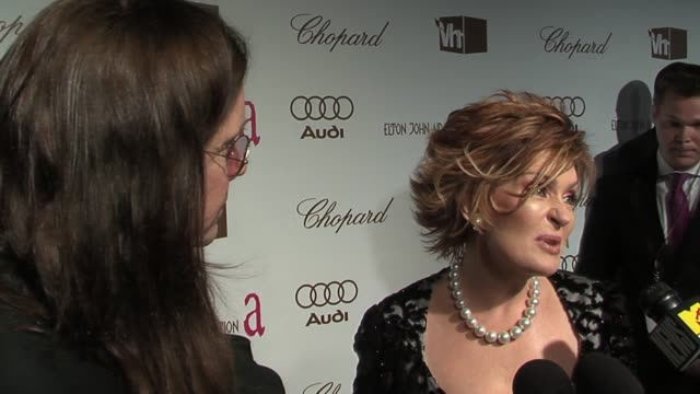 Sharon Osbourne on which categories people find interesting and which are boring at the 14th Annual Elton John AIDS Foundation Oscar Party Cohosted...