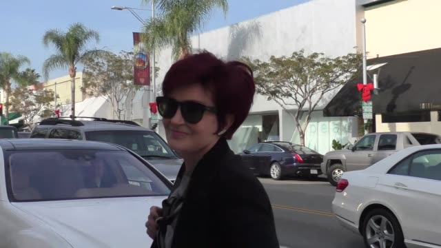 INTERVIEW Sharon Osbourne talks about being happy Donald Trump won while shopping in Beverly Hills in Celebrity Sightings in Los Angeles