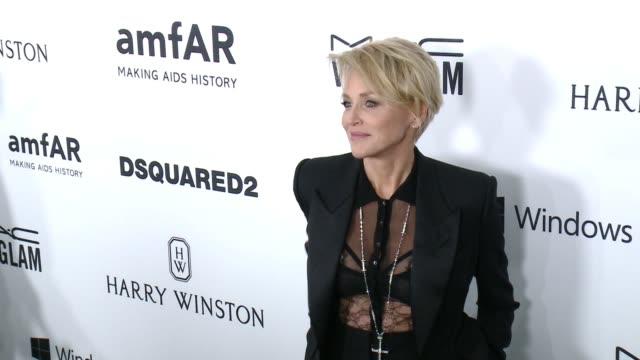 Sharon Stone at amfAR's Inspiration Gala Los Angeles 2015 in Los Angeles CA