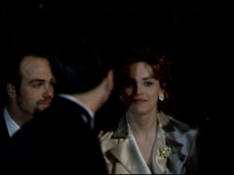 sharon stone at the 1995 academy awards morton party at morton's in west hollywood, california on march 27, 1995. - 67th annual academy awards stock videos & royalty-free footage