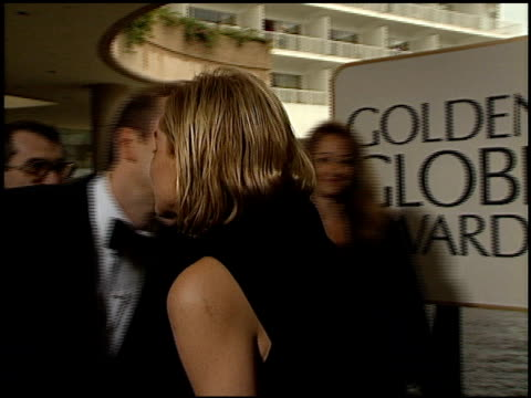 sharon stone at the 1996 golden globe awards at the beverly hilton in beverly hills, california on january 21, 1996. - 1996 video stock e b–roll