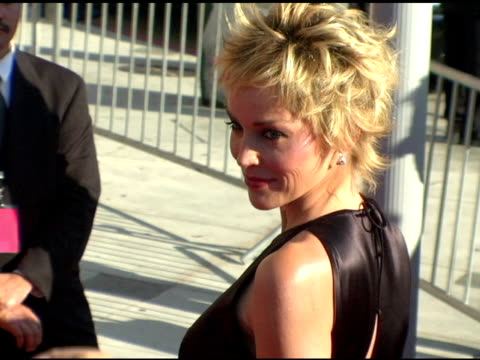 sharon stone at the 2004 emmy creative arts awards arrivals at the shrine auditorium in los angeles, california on september 12, 2004. - emmy awards stock videos & royalty-free footage