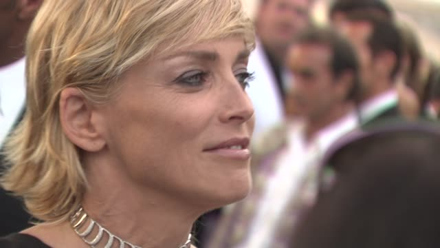 Sharon Stone at the Cannes Film Festival 2009 amfAR Red Carpet at Antibes