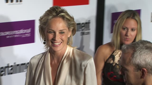 sharon stone at the entertainment weekly women in film preemmy party at west hollywood ca - entertainment weekly stock-videos und b-roll-filmmaterial
