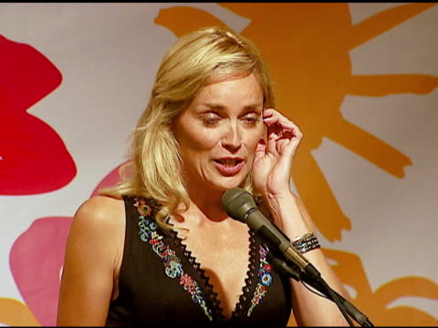 Sharon Stone at the Live Auction on whether or not she golfs at the 8th Annual Elizabeth Glaser Pediatric AIDS Foundation Celebrity Golf Classic at...
