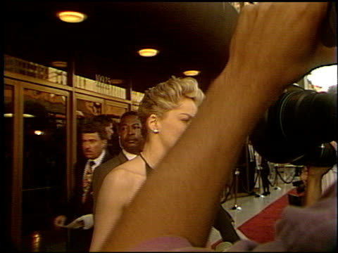 sharon stone at the 'slive'r premiere at the bruin theatre in westwood, california on may 19, 1993. - westwood stock-videos und b-roll-filmmaterial