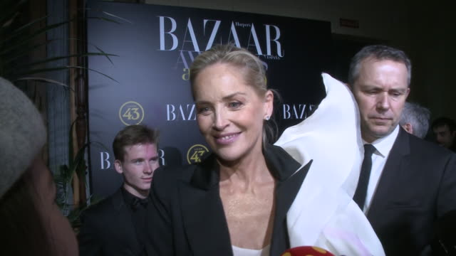 sharon stone attends 'harper's bazaar actitud 43' awards 2019 in madrid - arts culture and entertainment stock videos & royalty-free footage