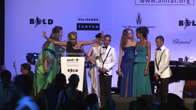 Sharon Stone auctions of tickets to Milan fashion week at the Cannes Film Festival 2009 amfAR Auction at Antibes