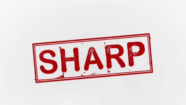 vídeos y material grabado en eventos de stock de sharp - sacapuntas
