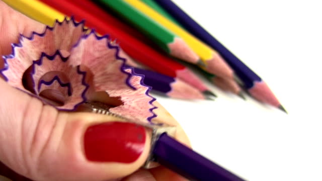 sharpening a pencil - graphite stock videos & royalty-free footage