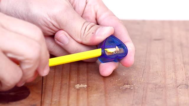 sharpening a pencil - pencil sharpener stock videos & royalty-free footage