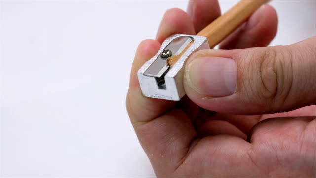 Sharpening a pencil