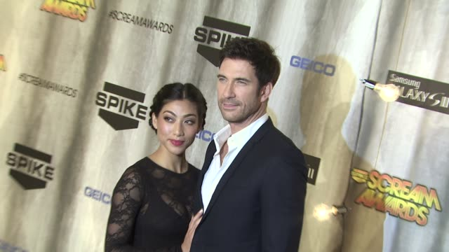 shasi wells and dylan mcdermott at the spike tv's 'scream awards at universal city ca - universal city stock videos & royalty-free footage