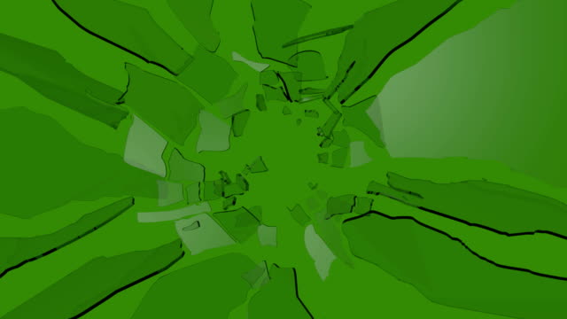 vídeos de stock, filmes e b-roll de shattered glass slow motion on green screen - quebrando