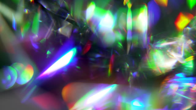 shattered rainbow diamond texture - visual effect stock videos & royalty-free footage