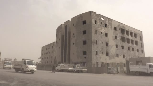 shattered ultra sound machines and prosthetic limbs litter the hallways of raqa's main hospital still gutted a year after the islamic state group... - infamous stock videos & royalty-free footage