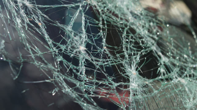 shattered windshield road accident - windscreen stock videos & royalty-free footage