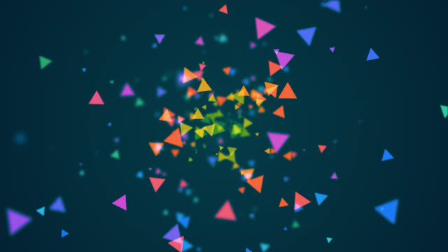 shattering colorful triangle - triangle shape stock videos & royalty-free footage