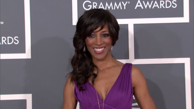 shaun robinson at the 55th annual grammy awards arrivals in los angeles ca on 2/10/13 - grammy awards stock videos and b-roll footage
