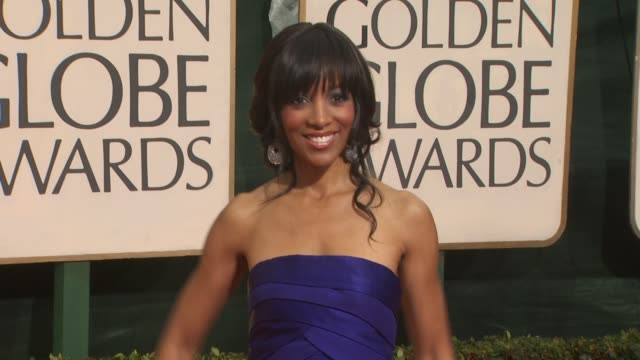 shaun robinson at the 67th annual golden globe awards arrivals part 3 at beverly hills ca - ゴールデングローブ賞点の映像素材/bロール