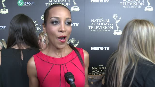 INTERVIEW Shaun Robinson on the event at the 2014 Daytime Emmy Awards at The Beverly Hilton Hotel on June 22 2014 in Beverly Hills California