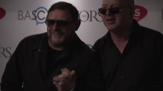 shaun ryder and alan mcgee at the 61st ivor novello awards on may 19, 2016 in london, england. - b roll点の映像素材/bロール