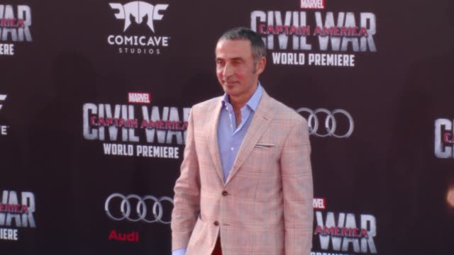 """shaun toub at marvel's """"captain america: civil war"""" world premiere at dolby theatre on april 12, 2016 in hollywood, california. - war stock-videos und b-roll-filmmaterial"""