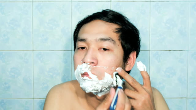 Shaving Face Time Lapse