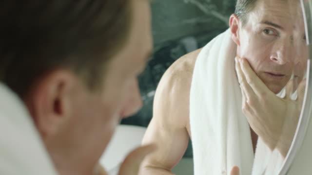 shaving - washing face stock videos & royalty-free footage