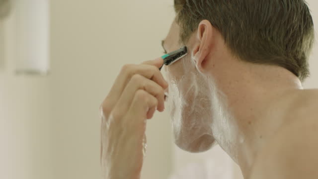 shaving - raso video stock e b–roll