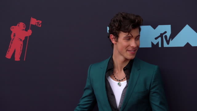 shawn mendes at 2019 mtv video music awards at prudential center on august 26 2019 in newark new jersey - mtv video music awards stock videos & royalty-free footage