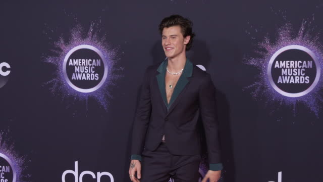 shawn mendes at the 2019 american music awards at microsoft theater on november 24 2019 in los angeles california - american music awards stock videos & royalty-free footage