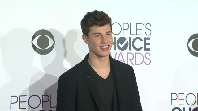 Shawn Mendes at the People's Choice Awards 2016 at Nokia Plaza LA LIVE on January 6 2016 in Los Angeles California