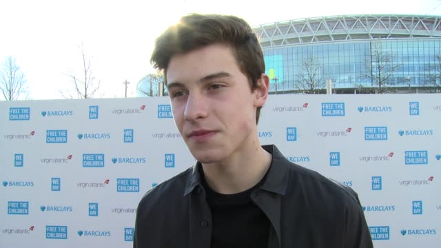 shawn mendes on we day, current work and world book day at we day uk at wembley arena on march 5, 2015 in london, united kingdom - wembley arena stock videos & royalty-free footage