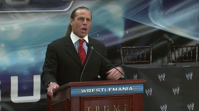 Shawn Michaels on Wrestlemania 23 and his keen fashion abilities at the Donald Trump and World Wrestling Entertainment News Conference for...