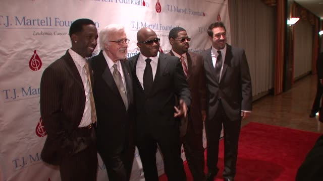 shawn stockman tony martell wanya morris nathan morris and joey fatone at the 33rd annual tj martell foundation awards gala at new york ny - joey fatone stock videos & royalty-free footage