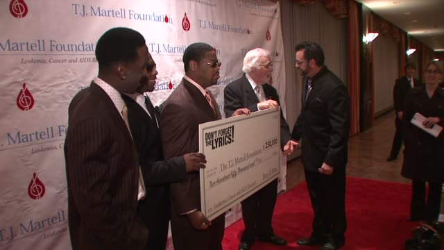 shawn stockman wanya morris nathan morris tony martell and joey fatone at the 33rd annual tj martell foundation awards gala at new york ny - joey fatone stock videos & royalty-free footage