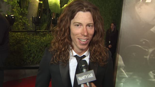 shawn white on the vanity fair oscar party at the 2011 vanity fair oscar party arrivals at hollywood ca. - vanity fair oscar party stock videos & royalty-free footage
