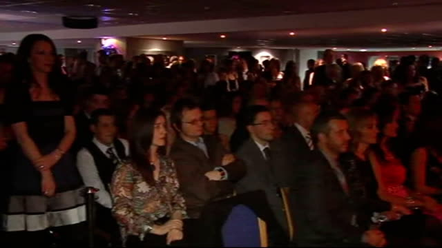 shay given and westlife at charity fashion show england newcastleupontyne st james's park int shay given on catwalk given with his wife jane given on... - st. james' park newcastle upon tyne stock videos & royalty-free footage