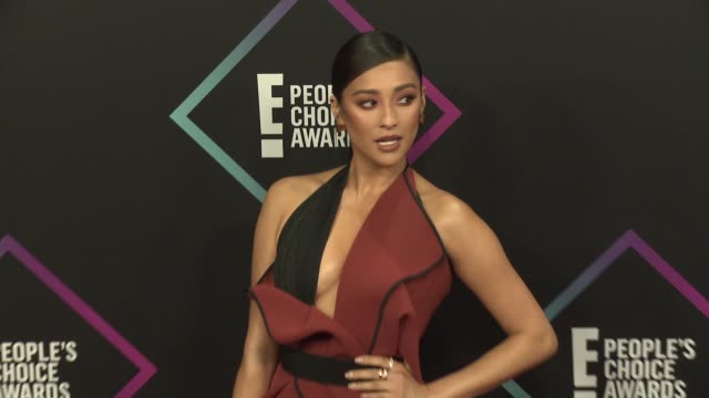 shay mitchell at the people's choice awards 2018 at barker hangar on november 11 2018 in santa monica california - people's choice awards stock videos & royalty-free footage
