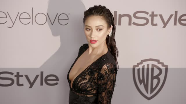 shay mitchell at the warner bros pictures and instyle host 19th annual postgolden globes party at the beverly hilton hotel on january 7 2018 in... - golden globe awards stock videos & royalty-free footage
