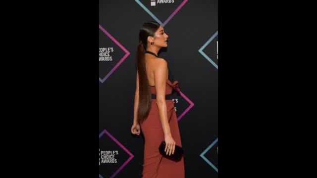Shay Mitchell attends the People's Choice Awards 2018 at Barker Hangar on November 11 2018 in Santa Monica California