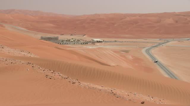 shaybah giant oilfield located in the empty quarter rub' al khali desert saudi arabia on tuesday october 2 2018 - saudi arabien stock-videos und b-roll-filmmaterial