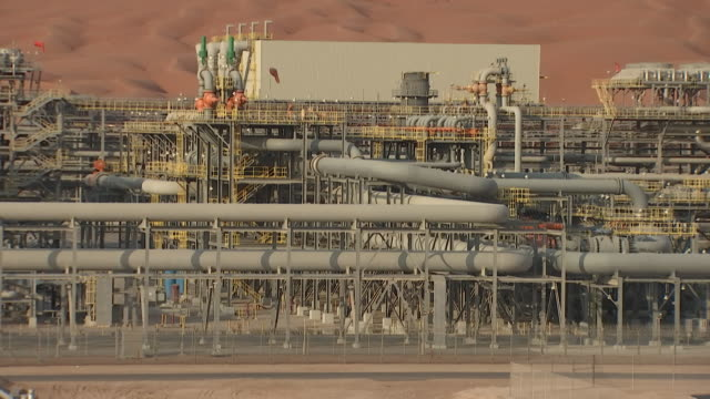 shaybah giant oilfield located in the empty quarter, rub' al - khali desert, saudi arabia, on tuesday, october 2, 2018. - saudi arabia stock videos & royalty-free footage