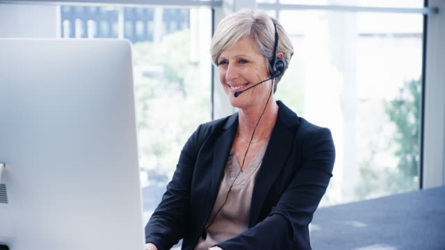 she knows just what to say to keep her clients happy - headset stock videos & royalty-free footage